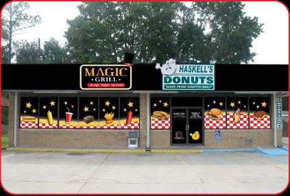 New Magic Grill Storefront!